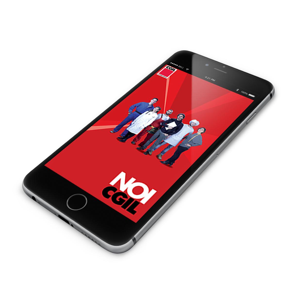Cgil Lombardia: app mobile