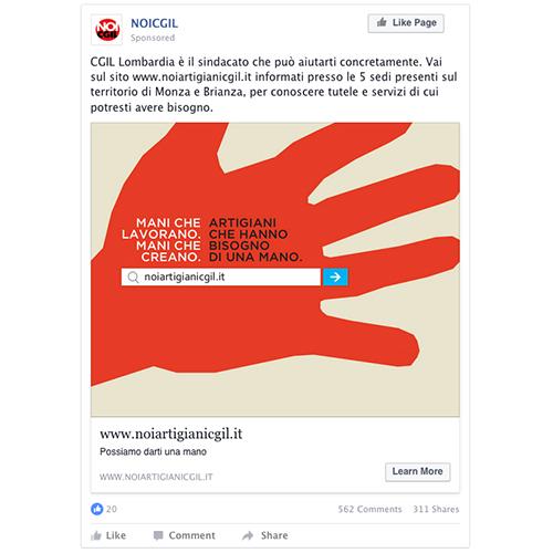 CGIL Monza Brianza: social media campaign